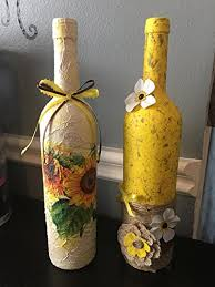 Decorative Colored Glass Bottles Amazon Decoupage Decoupage Glass Bottles Home Decor Glass 48
