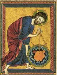 Представление о мире в Средние века Средневековое мировоззрение  Бог Отец измеряет мир Назидательная Библия Около 1250 г