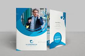 2 Folded Brochure Template E Commerce Business Bi Fold Brochure
