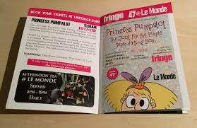 edinburgh fringe festival box office. The Le Monde Programme For 2017 Edinburgh Festival Fringe Which Includes \ Box Office