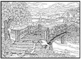 Detailed Nature Coloring Pages Free Coloring Library