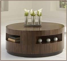 ... Top Round Coffee Table Storage Round Coffee Table With Storage For ...