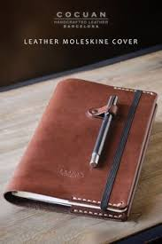 introducing cocuan minimal leather moleskine cover in dark brown this cover is made of full