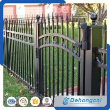 wrought iron fence gate. China Outdoor Steel Garden Fencing / Wrought Iron Fence Gate For Home - Fence,