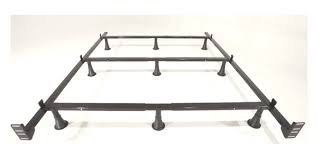 Leg t & Platt King Metal Bed Frame with 9 Glides Legs and