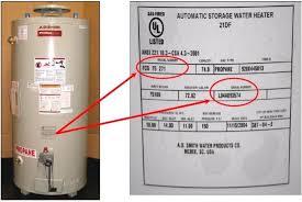 ao smith gas water heater. Serial # Sticker Ao Smith Gas Water Heater O