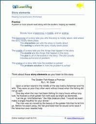 Plot Elements Reading Comprehension Worksheets By Topic K5 Learning