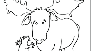Muffin Coloring Page Blueberry Colouring If You Give A Man Moose