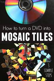 How To Make Mosaic Tiles From A Cd Or Dvd Happy Hooligans