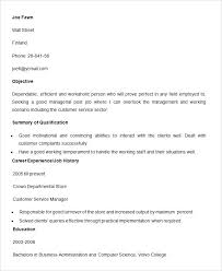 Customer Service Experience Resume Examples Work Skills For Resume ...