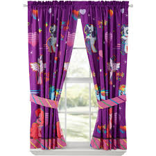 Purple Curtains For Bedroom My Little Pony Ride The Wind Girls Bedroom Curtains Walmartcom