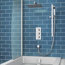 elijah concealed shower valve with fixed head slide rail kit overflow bath filler