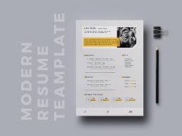 Free Modern Resume Template By Hossaine On Dribbble