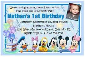 baby mickey mouse invitations birthday mickey mouse first birthday invitation cimvitation