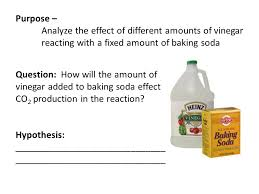 Purpose  Analyze the effect of different amounts of vinegar reacting with  a fixed amount of