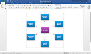 Create Process Flow Chart In Word How To Add A Block Diagram To A Ms Word Document Using