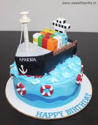 Cargo Ship Theme Customized Designer Fondant Cake Cake By Sweet