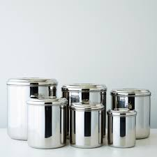 Kitchen Storage Canisters Stainless Steel Canisters Set Of 6 On Food52