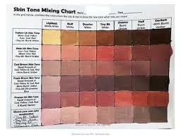 Skin Tone Chart Skin Tone Mixing Chart