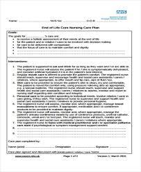 9 Nursing Care Plan Templates Free Sample Example Format Download