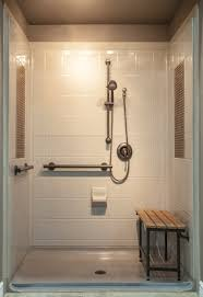 Walk In Tile Shower Custom Walk In Showers Available At Custom Bath Solutions Are Low