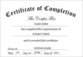 Certificate Of Completion Templates Certificate Of Completion Template Certificate Of