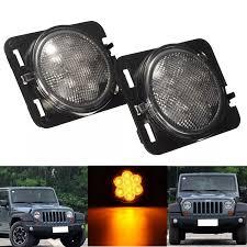 Jeep Lights For Sale 2pcs Clear Amber Parking Side Marker Led Light Front Fender For Jeep Wrangler Jk