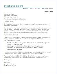 How To Write A Cover Letter For Research Assistant Position