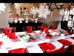 Christmas dinner party decorating ideas