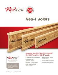 Red I I Joist Specifiers Guide Redbuilt