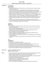 Sample Resume Cna Cna Resume Samples Velvet Jobs 47