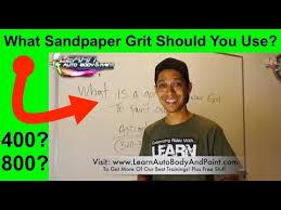 Automotive Sandpaper Grit Chart Best Sandpaper Grit For Car Painting 400 600 800 Grit