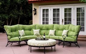 patio furniture deep seating sectional cast aluminum set crescent 6pc santa anita