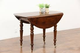 victorian round drop leaf antique walnut game breakfast or occasional table