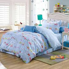 children cartoon car bus animal comforter bedding sets 100 cotton twin bed linens with sheet