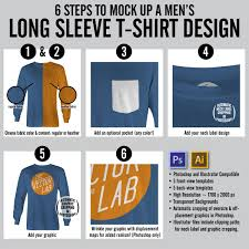 shirt design templates mens long sleeve t shirt mockup templates thevectorlab