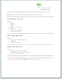 Landscaping Contract Templates Business Plan Repair Mpla Mainnance