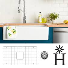 Shop Highpoint Collection 30 Inch Fireclay Farmsink With Grid And