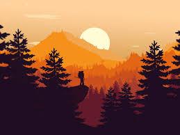 Sunrise Landscape And Design Mountain Sunrise By Wezr Design On Dribbble