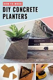 diy concrete planters concrete diy