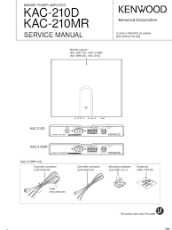 kenwood kac 720 stereo power amp 10 pin wiring harness diagram Kenwood Speaker Wiring Harness Colors kenwood amplificador kac 210d rh scribd com