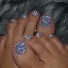 Pedicure Designs Glitter Pinterest Thatdollbri Glitter Toe Nails Toe Nails Toe