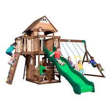 mount triumph all cedar swing set
