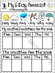 4 Day Weather Chart Weather Chart For Introducing Teaching Prediction