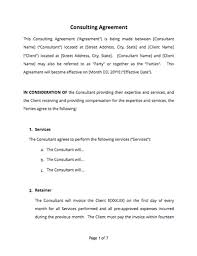 retainer consulting agreement consulting agreement free sample docsketch