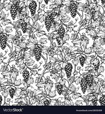 Vine Pattern Magnificent Seamless Pattern With Grape Vine Royalty Free Vector Image