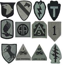 Us Army Patch Chart Combat Patch Ssi Fwts