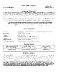 Resume Samples For System Administrator Job Position Vinodomia ...