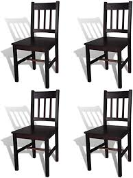 vidaXL Dining Chairs 4 pcs Wood Brown - Chairs - Amazon.com
