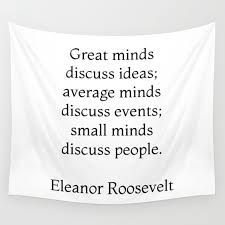 Great Minds Discuss Ideas Eleanor Roosevelt Quote Wall Tapestry